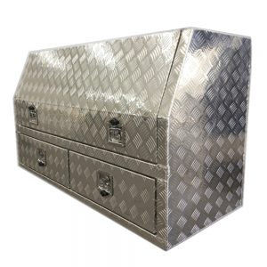 3/4 Side Opening Ute Tool box-With 2 x drawer